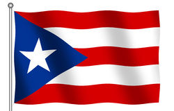 Flag of Puerto Tico. Puerto Rico Flag waving (With clipping path vector illustration