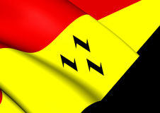 Flag of Purmerend North Holland, Netherlands. Stock Photo