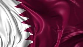 Flag of Qatar stock video