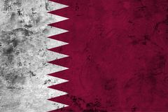 Flag of the Qatar close up Stock Image