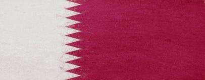 Flag of Qatar Grunge. Stock Images