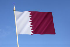 Flag of Qatar. National flag and ensign of Qatar - The flag was officially adopted on 9th July 1971, although a almost identical flag (only differing in Royalty Free Stock Photography