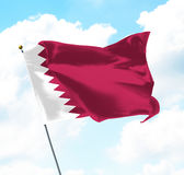 Flag of Qatar Stock Images