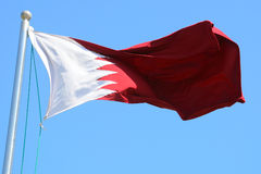 Flag of Qatar. In the wind Royalty Free Stock Photography