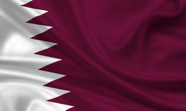 Flag of quatar Stock Image