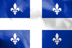 Flag of Quebec, Canada. Stock Photos