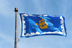 The flag of Quebec City, Canada Royalty Free Stock Photography