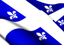 Flag of Quebec Province, Canada. Royalty Free Stock Photo
