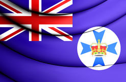 Flag of Queensland, Australia. 3D Flag of Queensland, Australia. Close Up Stock Photography