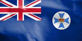 Flag of Queensland, Australia. 3d Rendered Flag of Queensland, Australia Stock Photos