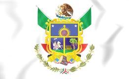 Flag of Queretaro, Mexico. Royalty Free Stock Photography