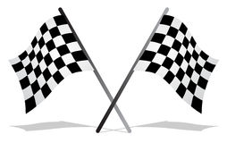 Flag race Royalty Free Stock Photos