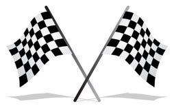 Flag race. On white background Royalty Free Stock Photos