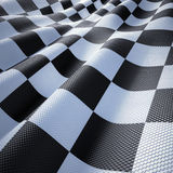 Flag Racing. Checkered flag racing, textured and wavy wind Royalty Free Stock Photography