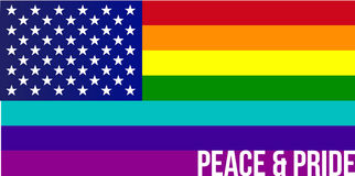 Flag of Rainbow united states Stock Photography