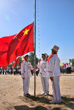 Flag-raising ceremony Stock Photo