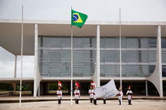 Flag raising ceremony Brasilia Stock Photography