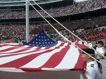 Flag Raising Ceremony. At The Ohio Sate University May Commencement 2014 Royalty Free Stock Image