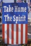 Flag Reading �Take Home The Spirit,� United States Royalty Free Stock Image