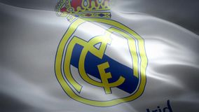 Flag of Real Madrid stock video