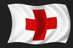 Flag of the red cross Stock Images