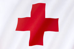Flag of the Red Cross - International Aid Stock Image