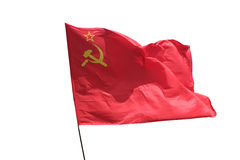 The flag Red. The flag of the Soviet Union waving in the wind Stock Images