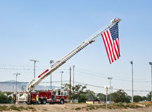 Flag in remembrance of September 11 Stock Photography
