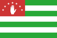 Flag of Republic of Abkhazia Royalty Free Stock Images