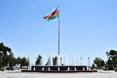 The flag of the Republic of Azerbaijan is one of the official st Stock Images
