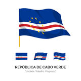 Flag of the Republic Cape Verde. The national flag of the Republic of Cape Verde. Vector illustration Stock Photos