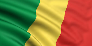 Flag Of Republic Of The Congo Royalty Free Stock Photos