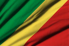 Flag of Republic of Congo Stock Photography