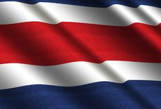 Flag of Costa Rica. Flag of Republic of Costa Rica Royalty Free Stock Images