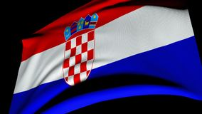 Flag of Republic of Croatia Royalty Free Stock Images