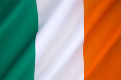 Flag of the Republic of Ireland. Flag of Ireland - frequently referred to as the Irish tricolor. The green represents the Gaelic tradition of Ireland, the orange Stock Photography