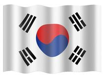 Flag of Republic of Korea Royalty Free Stock Photography