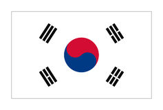 Flag of Republic  Korea. In correct size, proportions and colors. National Flag of South Korea Stock Image