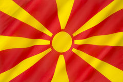 Flag of the Republic of Macedonia. Current flag dates from 1995 Stock Photography