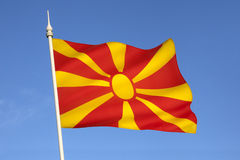 Flag of the Republic of Macedonia - Europe Stock Photos