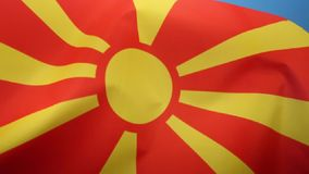 Flag of the Republic of Macedonia. The national flag of the Republic of Macedonia stock illustration