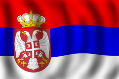 Flag of the Republic of Serbia. Serbian flag waving on the wind, suitable to use it is flag background vector illustration
