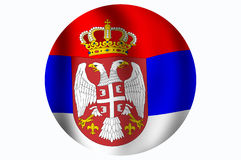 Flag of the Republic of Serbia. Serbian flag isolated over white background Vector Illustration