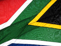 Flag of the Republic of South Africa background. National flag of the Republic of South Africa background close up Stock Photo