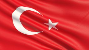 The flag of the Republic of Turkey, often referred to as the Turkish flag. royalty free stock photos