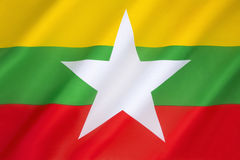 Flag of the Republic of the Union of Myanmar - Burma Royalty Free Stock Image