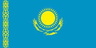Flag Republik of Kazakstan Stock Images