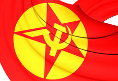 Flag of Revolutionary People`s Liberation Party-Front. DHKP/C. Close Up Royalty Free Stock Image