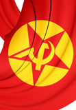 Flag of Revolutionary People`s Liberation Party-Front DHKP/C. 3D Flag of Revolutionary People`s Liberation Party-Front DHKP/C Stock Photo