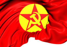 Flag of Revolutionary People`s Liberation Party-Front DHKP/C. 3D Flag of Revolutionary People`s Liberation Party-Front DHKP/C. Close Up Royalty Free Stock Images